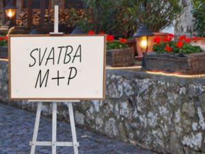 Cedule a jmenovky na svatbu | Svatba na zámku