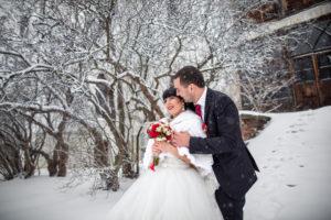 Zimní svatba | Svatba na zámku