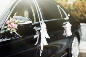 Výzdoba na auto - dekorace 4   Svatba na zámku