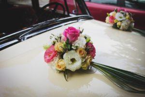 Výzdoba na auto - dekorace   Svatba na zámku