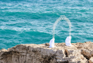 Svatební slavobrána u moře | Svatba na zámku